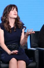 ZOOEY DESCHANEL at New Girl TV Show Panel at in Los Angeles 01/04/2018