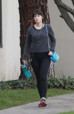 ZOOEY DESCHANEL Heading to a Gym in Los Angeles 01/10/2018