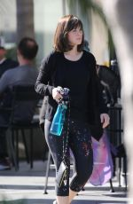 ZOOEY DESCHANEL Shows New Haircut as She Goes to a Gym in Los Angeles 01/25/2018