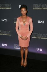 AASHA DAVIS at Unsolved the Murders of Tupac and the Notorious B.I.G. Premiere in Los Angeles 02/22/2018