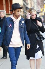ABBIE CORNISH and Darrell Britt-Gibson in New York 02/05/2018