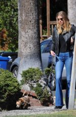 ADRIANNE PALICKI Out with Her Dog in Los Angeles 02/223/2018