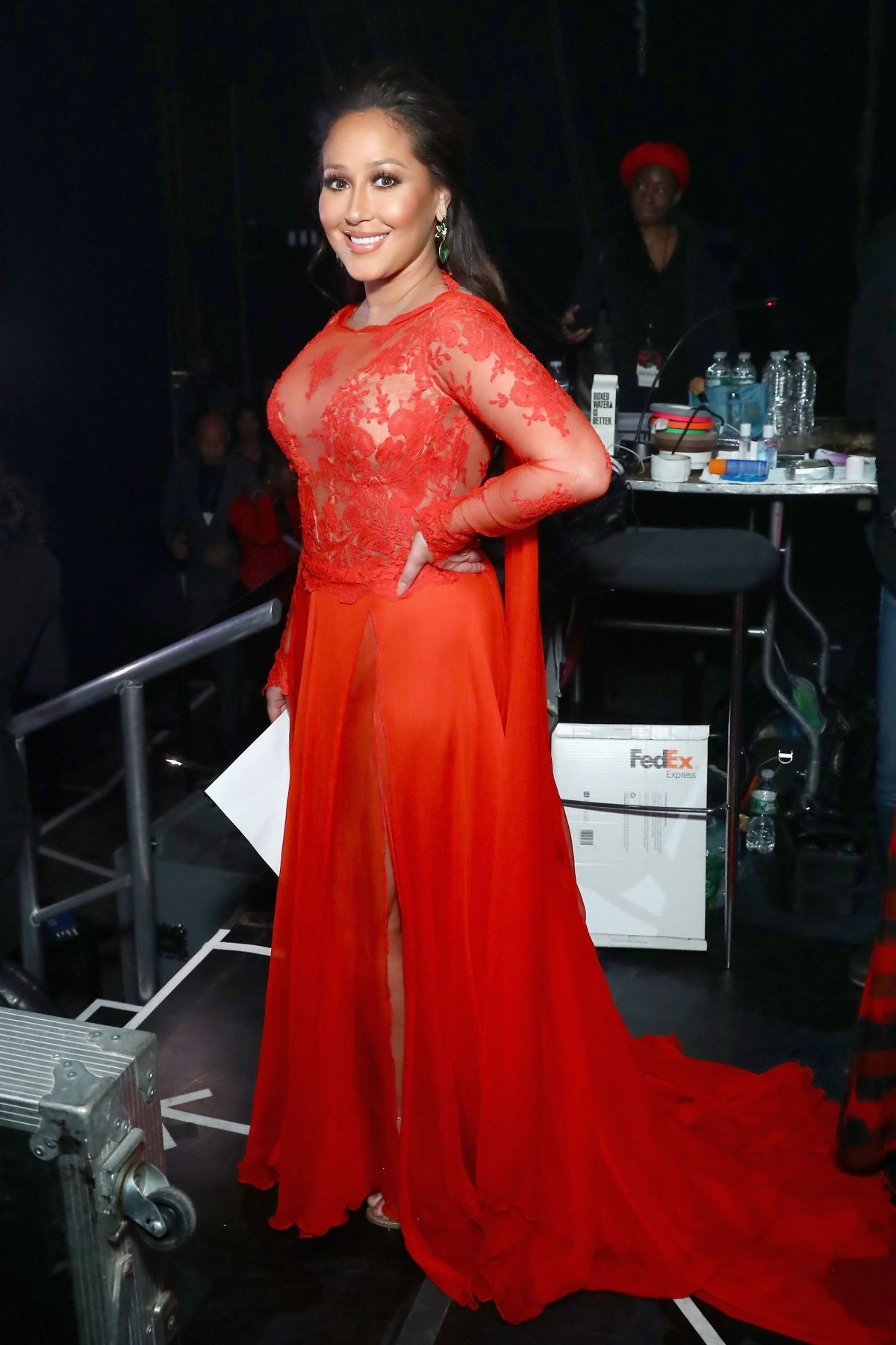 ADRIENNE BAILON at Go Red for Women Red Dress Collection 2018 ...