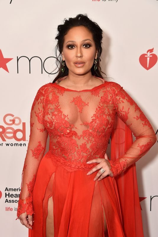 ADRIENNE BAILON at Go Red for Women Red Dress Collection 2018 Presented by Macy's in New York 02/08/2018