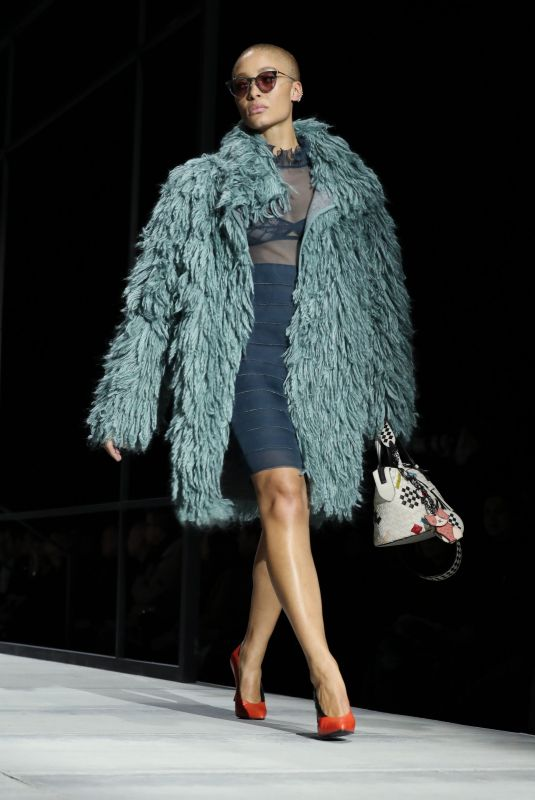 ADWOA ABOAH at Bottega Veneta Catwalk at New York Fashion Week 02/09/2018