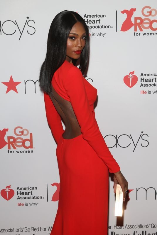 AFIYA BENNETT at Go Red for Women Red Dress Collection 2018 Presented by Macy's in New York 02/08/2018