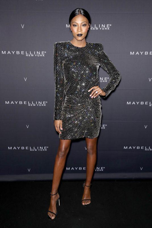 AFIYA BENNETT at Maybelline New York x V Magazine Fashion Week Party in New York 02/11/2018