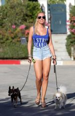 AISLEYNE HORGAN WALLACE in Denik Shorts Out with Her Dogs in Los Angeles 02/09/2018