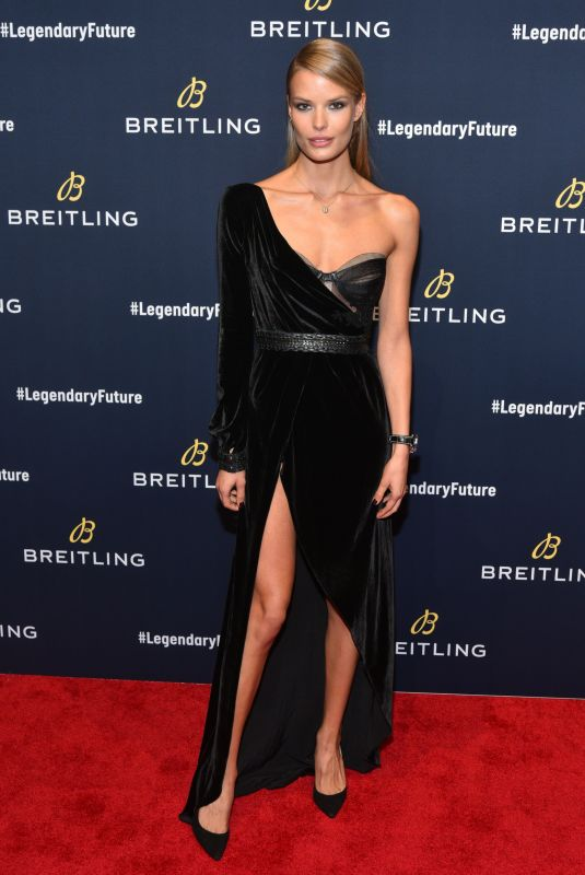 ALENA BLOHM at Breitling Global Roadshow Event in New York 02/22/2018