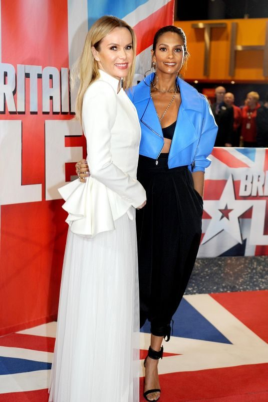 ALESHA DIXON and AMANDA HOLDEN at Britain's Got Talent Auditions in Manchester 02/08/2018