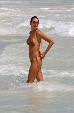 ALESSANDRA AMBROSIO in Bikini at a Beach in Tulum 02/16/2018