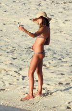 ALESSANDRA AMBROSIO in Bikini on the Beach in Bahamas 02/09/2018