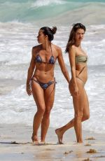 ALESSANDRA AMBROSIO in Bikini on the Beach in Tulum 02/16/2018