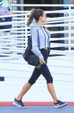 ALESSANDRA AMBROSIO in Leggings Out in Los Angeles 01/31/2018