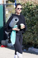 ALESSANDRA AMBROSIO Leaves Yoga Class in Brentwood 02/26/2018