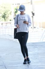 ALESSANDRA AMBROSIO Out and About in Brentwood 02/24/2018