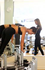 ALESSANRA AMBROSIO at Pilates Class in Brentwood 02/08/2018