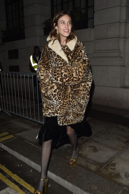 ALEXA CHUNG Arrives at The Ned Hotel in London 02/21/2018