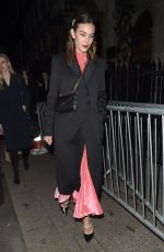 ALEXA CHUNG at Vogue x Tiffany & Co Bafta Afterparty in London 02/18/2018
