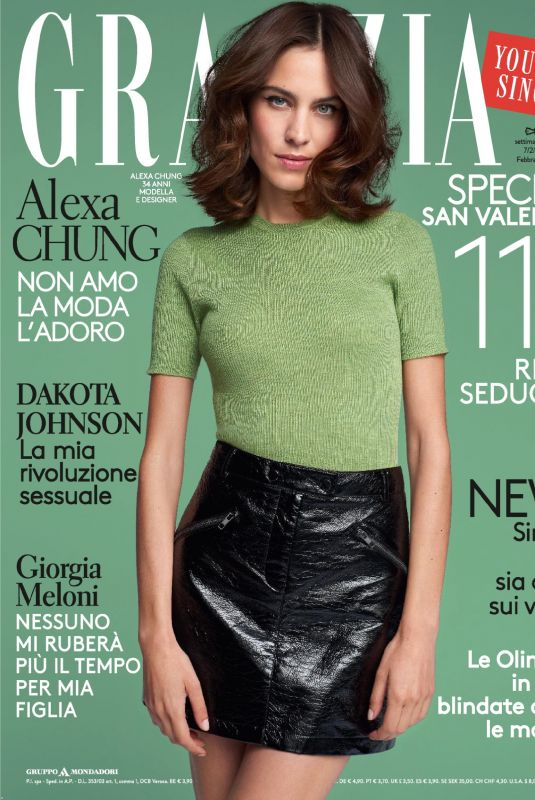 ALEXA CHUNG in Grazia Magazine, Italy February 2018