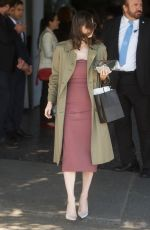 ALEXANDRA DADDARIO Leaves CFDA Luncheon at Chateau Marmont in Los Angeles 02/20/2018