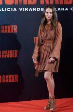 ALICIA VIKANDER at Tomb Raider Photocall in Madrid 02/28/2018