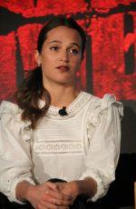 ALICIA VIKANDER at Tomb Raider Press Conference in Los Angeles 02/23/2018