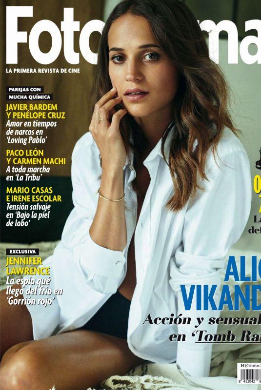 ALICIA VIKANDER in Fotogramas Magazine, Spain March 2018