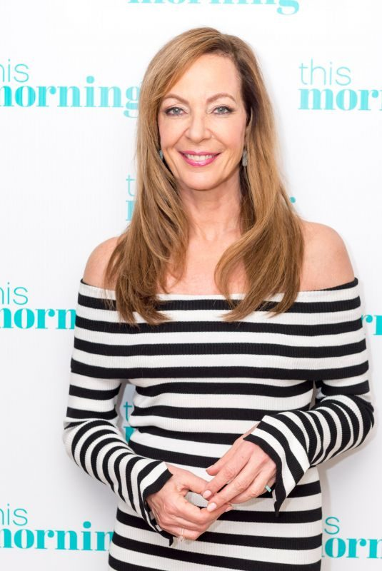 ALLISON JANNEY at This Morning Show in London 02/16/2018