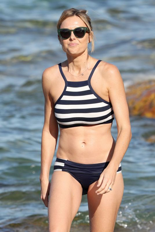 ALLISON LANGDON in Bikini on the Beach in Sydney 02/08/2018
