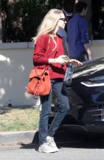 AMANDA SEYFRIED Out and About in Beverly Hills 02/15/2018