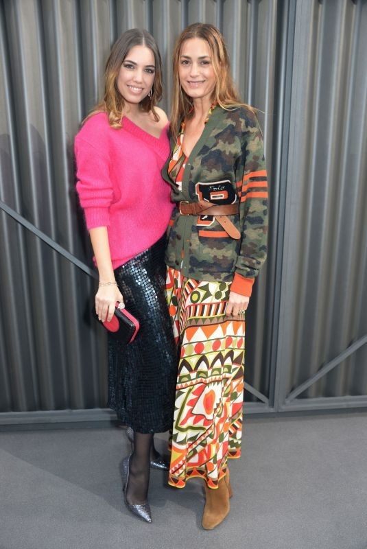 AMBER and JASMIN LE BON at Temperley Fashion Show in London 02/18/2018