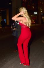 AMBER TURNER at Valentine's Party at Libertine Nightclub in London 02/08/2018