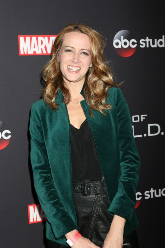AMY ACKER at Agents of S.H.I.E.L.D. 100th Episode Celebration in Hollywood 02/24/2018
