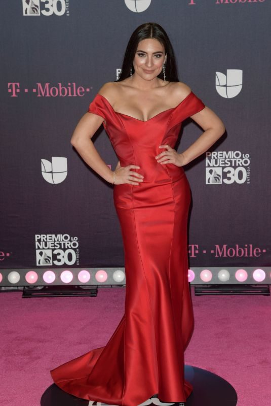 ANA BRENDA CONTRERAS at Premio Lo Nuestro Awards 2018 in Miami 02/22/2018