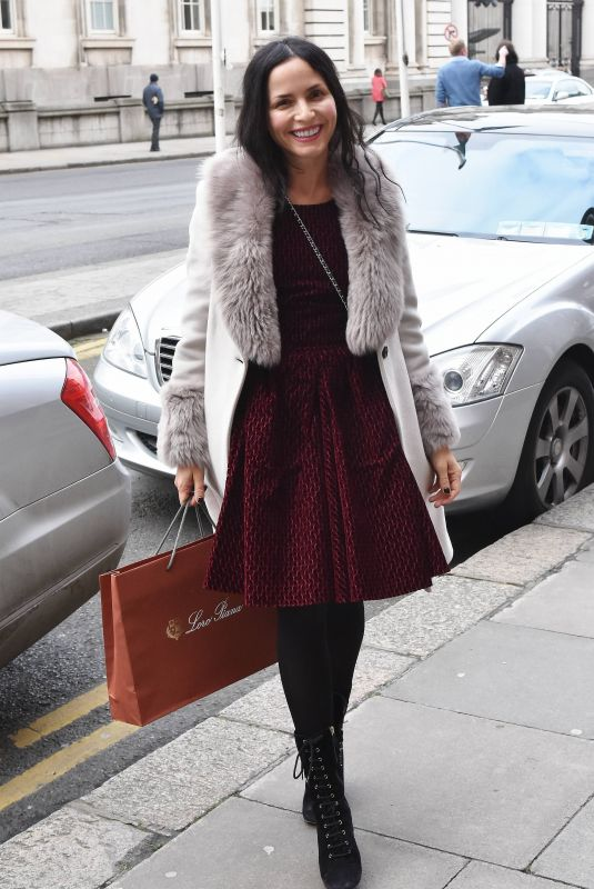 ANDREA CORR Out and About in Dublin 02/22/2018