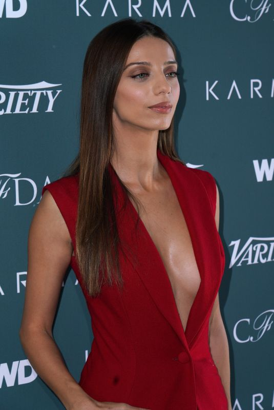 ANGELA SARAFYAN at CFDA, Variety and WWD Runway to Red Carpet Luncheon in Los Angeles 02/20/2018