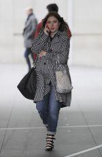 ANGELA SCANLON Leaves BBC Studios in London 02/05/2018