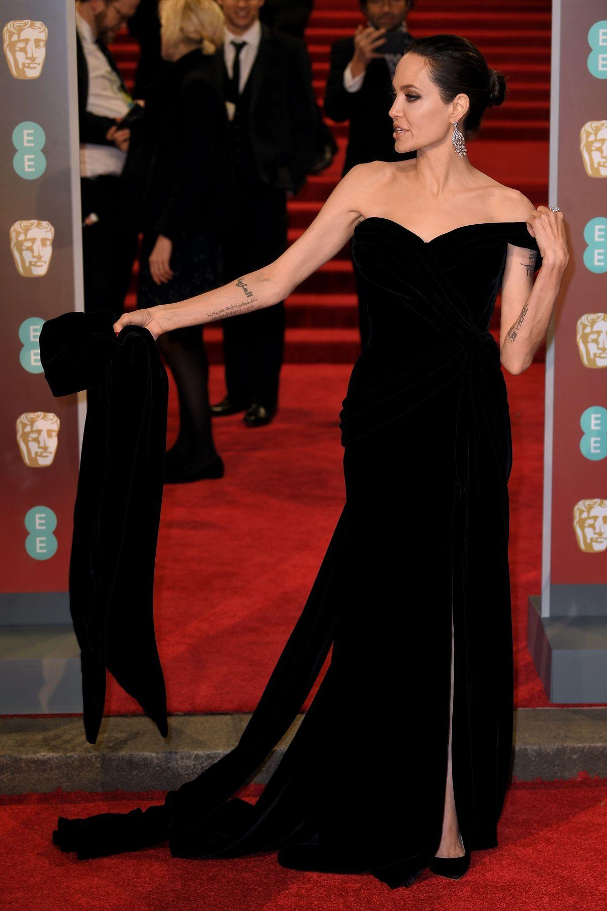 ANGELINA JOLIE at BAFTA Film Awards 2018 in London 02/18