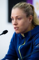 ANGELIQUE KERBER at 2018 WTA Qatar Open Press Conference in Doha 02/14/2018