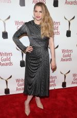 ANNA CHLUMSKY at Writers Guild Awards 2018 in Beverly Hills 02/11/2018