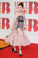 ANNA FRIEL at Brit Awards 2018 in London 02/21/2018