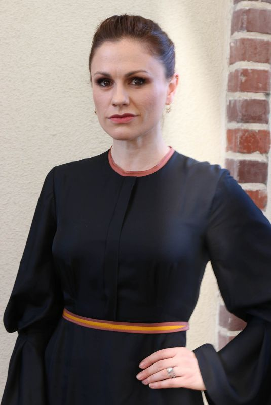 ANNA PAQUIN at HFPA Offices in Los Angeles 01/31/2018