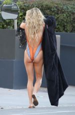 ANNALYNNE MCCORD in Bikini and Swimsuit on the Set of a Photoshoot in Los Angeles 02/19/2018