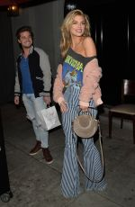 ANNALYNNE MCCORD Out for Dinner in Los Angeles 02/19/2018