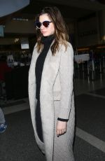 ANNE HATHAWAY Arrives at LAX Airport in Los Angeles 02/25/2018