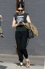 ANNE HATHAWAY Out and About in Los Angeles 02/06/2018