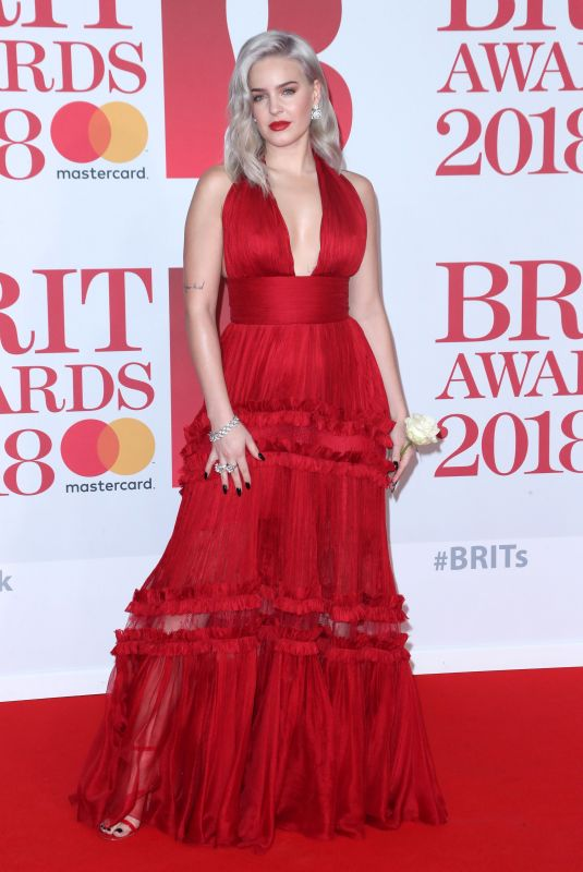 ANNE MARIE at Brit Awards 2018 in London 02/21/2018