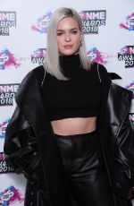 ANNE MARIE at VO5 NME Awards 2018 in London 02/14/2018