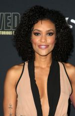 ANNIE ILONZEH at Unsolved the Murders of Tupac and the Notorious B.I.G. Premiere in Los Angeles 02/22/2018